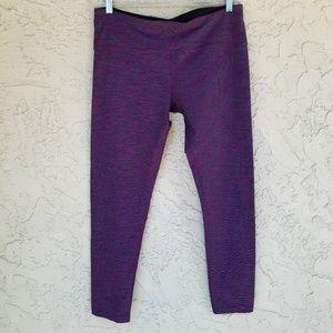 Tuff Athletics Purple Heathered Athletic Leggings